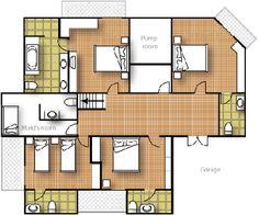 The lower floor of Puket private villa include master bedroom, 2 bedroom, 3 bedroom, 4 bedroom each including ensuite.