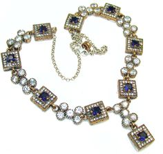Stylish Turkish Design Sapphire Sterling Silver necklace - 62.50g | $298.45 best price at Silver Rush Style!