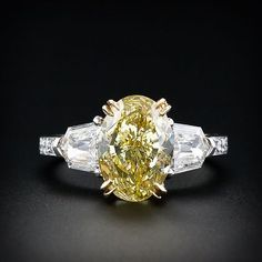 4.02 Fancy Yellow Diamond Ring. The other views of this ring are pretty great too!