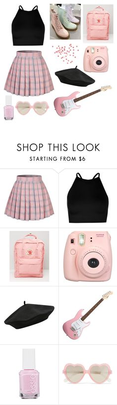 """ⓟⓐⓢⓣⓔⓛ ⓟⓘⓝⓚ"" by dreamingqueen on Polyvore featuring Boohoo, Fjällräven, Fujifilm, M&Co, Essie and Cutler and Gross"