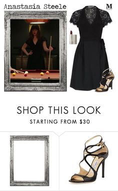 """""""Fifty Shades Darker"""" by m-spirations ❤ liked on Polyvore featuring Jimmy Choo, Ilia, anastasiasteele, FiftyShades, dakotajohnson and FiftyShadesDarker"""