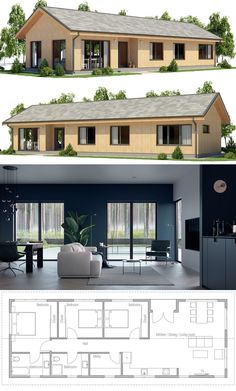 Small Home Plan, Small House Plans, Architecture, New House Designs. House Layout Plans, New House Plans, Dream House Plans, Modern House Plans, House Layouts, Small House Plans, House Floor Plans, Modular Home Plans, Modular Homes