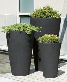 Vallarella Tall Planter- S/3 - LG 26' x 39.25', Med. 21' x 31.5, Sm. 15.75 x 23.75' Landing before electric panel possibility