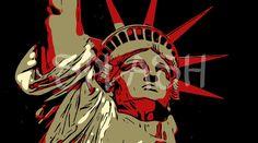 Cuadro pop art de la Estatua de la Libertad-New York-SP336