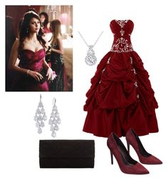 """""""The Vampire Diaries Elena Gilbert Prom Inspired Outfit"""" by camemckeith on Polyvore featuring Wet Seal, Carolee, John Lewis, women's clothing, women's fashion, women, female, woman, misses and juniors"""