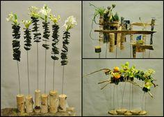 wires, papers, flowers — at Ritas Garaissilas ziedu kārtošanas skola.