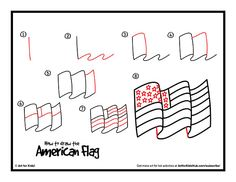 Waving American Flag Drawing Google Search Draw This Warm Ups
