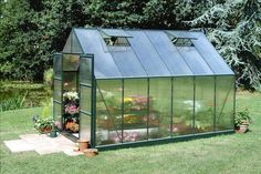 Halls Magnum Greenhouse with polycarbonate glazing