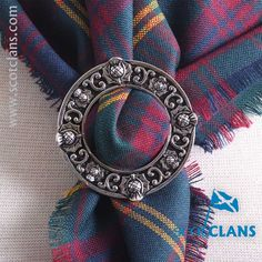 Durie Tartan Scarf and Ring Set. Free worldwide shipping available