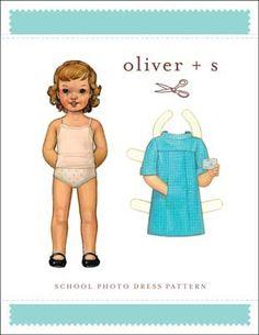 digital school photo dress sewing pattern