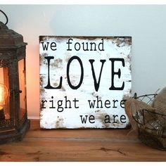 20 X 20 Ed Sheeran Song We Found Love Sign on Barnwood Barn Wood... ($59) ❤ liked on Polyvore featuring home, home decor, wall art, gifts & mementos, gifts for the couple, grey, weddings, handmade home decor, barn wood wall art and gray home decor