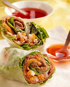 Vietnamese Beef & Vegetable Spring Rolls Recipe - Diabetic Recipes from Diabetic Gourmet Magazine