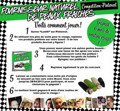 COMPETITION !  Gagnez 6 mois de soins visages !   Repinnez ce pin pour participer, et 5 produits de ce board !    Retrouvez toutes les modalités du concours ici: http://www.lush.fr/shop/info/87/