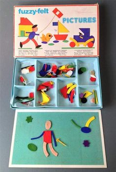 Vintage/retro toy FUZZY-FELT 'PICTURES' Made in England I had one of these. I also have a newer one in my storeroom at school-must get it out for the kids! 1980s Childhood, Childhood Days, Photo Vintage, Retro Vintage, Vintage Toys 80s, Vintage Music, Fuzzy Felt, Back In The 90s, Love The 90s