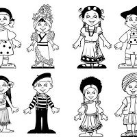 Printable 70425 Kids Coloring Children Of The World Colouring Pages