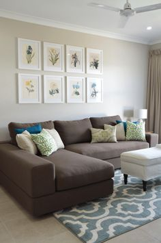 Best Apartment Living Room Decor Brown Couch Home Ideas Brown Living Room Decor, Home Living Room, Living Room Color Schemes, Room Design, Living Room Decor Apartment, Paint Colors For Living Room, Apartment Living Room, Apartment Decor, Brown Living Room