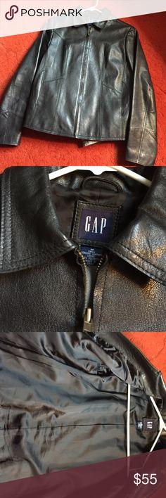 Gap genuine leather jacket Genuine leather jacket good for fall. GAP Jackets & Coats Blazers