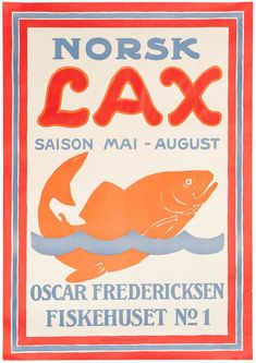 LUND, Aage (1892-1972). Norsk Lax (Norwegian Salmon). – Sotherans