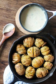 Easy holiday side dish recipes: Gild the lily for your holiday meal and dress your Hasselback potatoes with this creamy, decadent sauce | Wright Family Table
