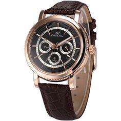 KS Herren Armbanduhr Automatik Mechanisch braun Leder Armband Datumanzeige KS248 - http://uhr.haus/ks/ks-herren-armbanduhr-automatik-mechanisch-braun
