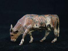 Elegant Cold Painted Austrian Bronze Cattle Original 20th Century Antique