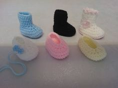 My Easy Crochet 6 in 1 Petite Baby Slippers & Booties inc my Ugg style (3 inches) - YouTube