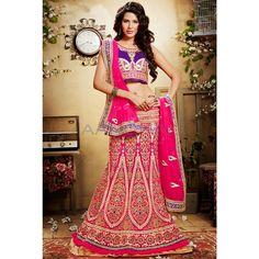 Pink Net #Lehenga Choli With Dupatta #IndianLehenga #WomenClothing #EthnicWear #WomenWear #WomenFashion
