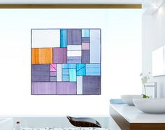 Korean patchwork Jogakbo's qualities- color, texture, transparency- are best exposed in light,