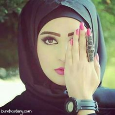 Muslim girl beautiful ring