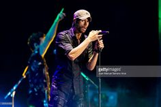 Enrique Iglesias performs in concert at at the El Sardinero stadium on July 15, 2017 in Santander, Spain.