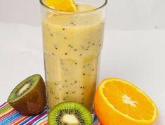 gesunde Smoothie Rezepte mit Kiwi, Weizenkeimen und Orange