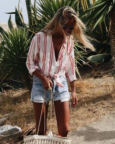 Stripe top.