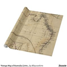 Vintage Map of Australia (1700s) Wrapping Paper