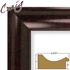 "Craig Frames Inc 12"" x 12"" Mahogany Burl Smooth Wood Grain Finish 2.375 Inch Wide Picture Frame (50005)"
