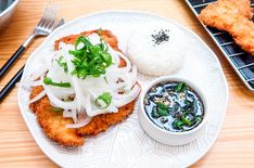 Seoul Cafe: New Donkatsu Recipe! Pork Cutlets, Pork Loin, Seoul Cafe, Oriental, Korean Kitchen, Fried Pork, Korean Food, Sauce