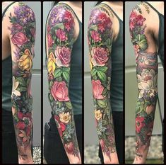 Floral Sleeve by Rae at Unkindness Art in Richmond VA Floral Sleeve by Rae at Unkindness Art in Richmond VA<br> Post with 0 votes and 142698 views. Floral Sleeve by Rae at Unkindness Art in Richmond VA Great Tattoos, Trendy Tattoos, Beautiful Tattoos, New Tattoos, Girl Tattoos, Tattoos Pics, Dragon Tattoos, Henna Tattoos, Tattoo Images