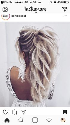 We Are Obsessing Over This High Textured Pony By Alena - We Are Obsessing Over This High Textured Pony By Alena__famina Bridesjournal Hair Wedding Bridalhair Inspo Inspiration Bridetobe More Information Find This Pin And More On Hair Clothe Long Hair Wedding Styles, Elegant Wedding Hair, Wedding Hairstyles For Long Hair, Wedding Updo, Boho Wedding, Wedding Gifts, Braided Bun Hairstyles, Bride Hairstyles, Cool Hairstyles