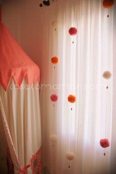 65 Ideas baby decor room pom poms for 2019 My Room, Girl Room, Baby Room Decor, Bedroom Decor, Diy Casa, Pom Pom Crafts, Curtain Designs, Diy Curtains, Girls Bedroom