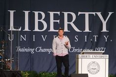 tim at liberty university. Proof my school is better than yours. Such a Godly man<3