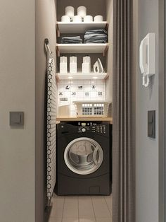 50 Cool Small Laundry Room Design Ideas December Leave a Comment Every family home needs a laundry room, but not all homes have enough space for one. But not all laundry rooms need a lot of space! A laundry just needs to be functional Tiny Laundry Rooms, Laundry Room Storage, Laundry Room Design, Laundry In Bathroom, Laundry Nook, Vintage Laundry Rooms, Small Laundry Space, Small Utility Room, Ikea Laundry