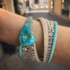 Omg! Parabia, diamond, opal and turquoise bracelet BEAUTIFUL via @londonjewelers !!! •