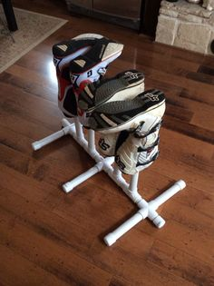 Easy to build, portable DIY PVC boot drying rack