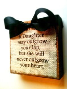 A Daughter Wood Block Sign van DesignsBySyds op Etsy