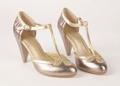 Vintage wedding shoes: All Dressed Up T-Strap pumps from Seychelles Footwear