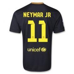 13-14 Barcelona #11 NEYMAR JR Away Black Soccer Jersey Shirt
