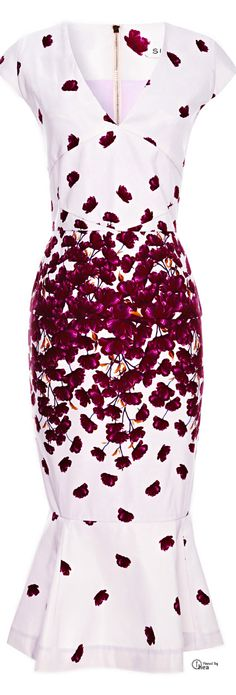Suno ● Spring 2014, Printed Tulip-Hem What to wear to a Wedding?