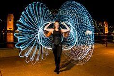 LED Hooping Angel Caitlyn Woods