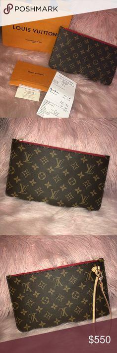 22fc3d54763a Louis Vuitton Pouchette MM NEW! AUTHENTIC! Louis Vuitton Pouchette MM