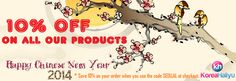 Chinese New Year 2014 Sale Coupon Discount