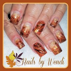 Acrylic nails fall fade with mica